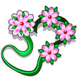 decoration for the head in the form of a ribbon vector image vector image