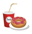 delicious and sweet isolated icon design vector image vector image