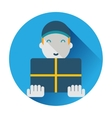 Delivery worker vector image