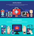 digital health gadgets flat banners vector image