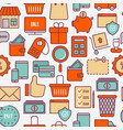 e-commerce shopping seamless pattern vector image vector image