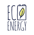 eco or green energy lettering green energy with a vector image