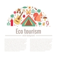 Ecotourism camping poster vector image vector image
