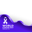 februarty 4th world cancer day poster design vector image