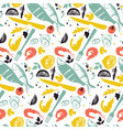 fish and vegetable pattern vector image
