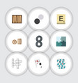 flat icon play set of lottery mahjong vector image vector image