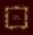frame with snowflakes vector image vector image