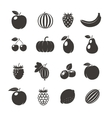 Fruits Black Icons vector image vector image
