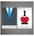 happy fathers day card with typography vector image vector image
