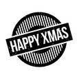 happy xmas rubber stamp vector image vector image