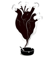 harmful effect of smoking to the heart vector image