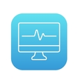 Heart beat monitor line icon vector image vector image