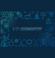 i love chemistry linear frame with empty vector image vector image