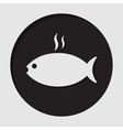 information icon - grilling fish with smoke vector image vector image