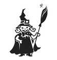 kid witch costume icon simple style vector image
