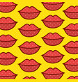 lips pop art pattern vector image vector image