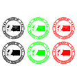 made in equatorial guinea rubber stamp vector image vector image