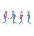 male female nurse walking vector image vector image