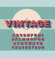 modern bold font and vintage alphabet vector image