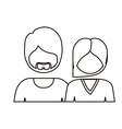 monochrome contour with half body couple without vector image vector image