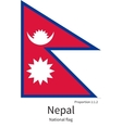 National flag of Nepal with correct proportions vector image vector image