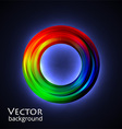 neon circle vector image vector image