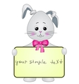 Rabbit with the poster vector image vector image