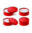 red box round decoration gift box vector image vector image