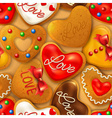 Seamless background with Happy Valentines day vector image