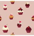 seamless cartoon cake pattern vector image