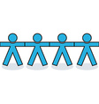 Seamless united people icons vector image vector image