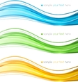 Set of color curve lines design element vector image
