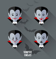 set of vampire emojis for halloween vector image vector image