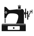 Sewing machine icon simple style vector image