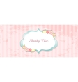 shabby chic congratulations card vector image vector image