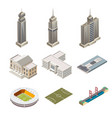 skyscrapers and building isolated vector image