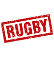 square grunge red rugby stamp vector image vector image