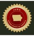 Star label Iowa vector image
