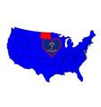 state of north dakota vector image vector image