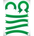 striped green banner set - semicircle circle vector image vector image