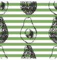 Striped seamless pattern with avocado