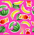 summer seamless bright pattern with watermelon vector image vector image