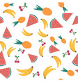 summer seamless pattern with tropical fruits vector image