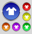 T-shirt icon sign Round symbol on bright colourful vector image vector image
