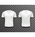 T-shirt Template Front Back Realistic 3d Design vector image vector image