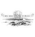 the united states seal of maine vintage vector image vector image