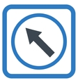 Up-Left Rounded Arrow Flat Icon vector image