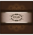 Vintage invitation card on grunge background with vector image vector image