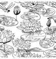 water lily and dragonfly vector image vector image