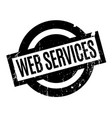 web services rubber stamp vector image vector image